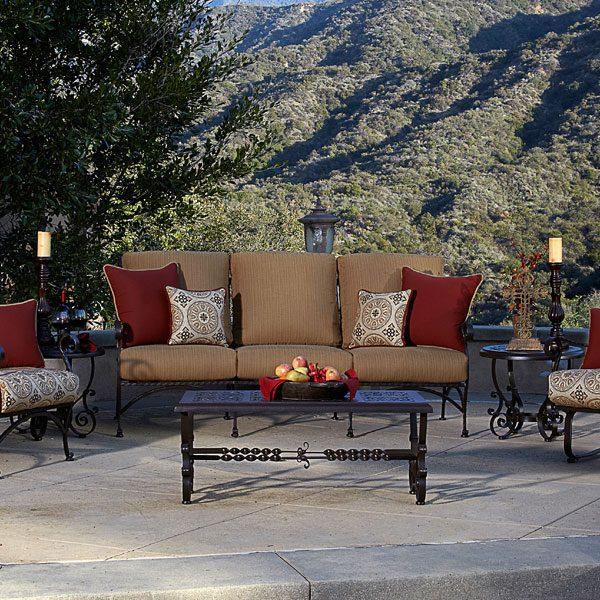 OW Lee San Cristobal Wrought Iron Outdoor Sofa