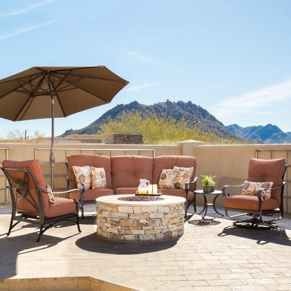 Alu-Mont Santa Barbara aluminum crescent patio furniture