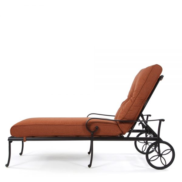 Santa Barbara outdoor chaise lounge side view