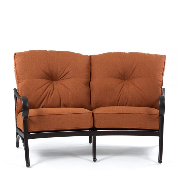 Alumont Santa Barbara curved love seat front view