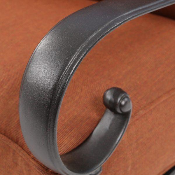 Alu-Mont Santa Barbara curved loveseat aluminum frame with a Terra Mist powder coat finish