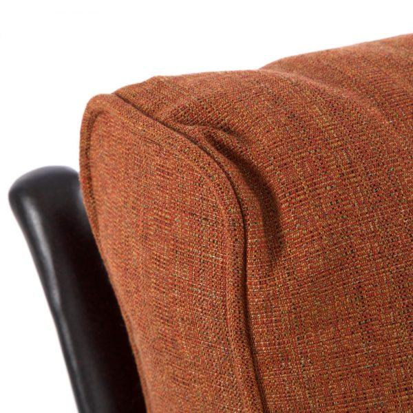 Alu-Mont Santa Barbara love seat with Linen Chili Sunbrella fabric