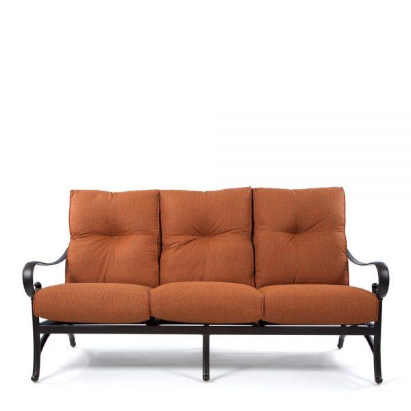 Alu-Mont Santa Barbara cast aluminum sofa front view