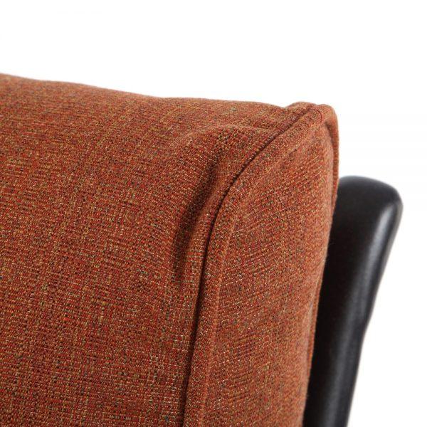 Santa Barbara swivel rocker club chair with Linen Chili Sunbrella cushions