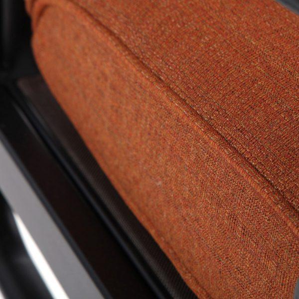 Alu-Mont Santa Barbara swivel rocker with Linen Chili Sunbrella fabric