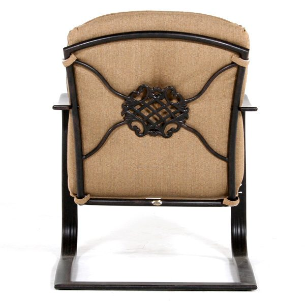 Heritage spring base club chair back view