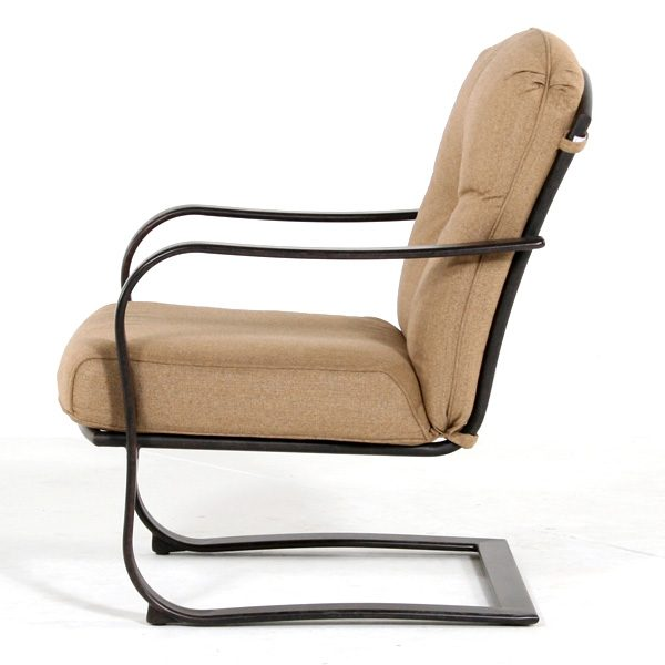 Heritage spring base club chair side view