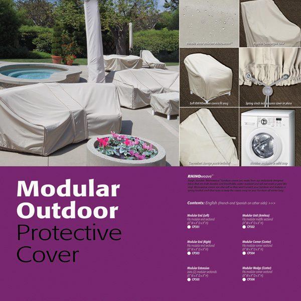 Treasure Garden sectional or modular end (right) cover