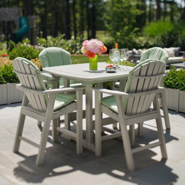 Seaside Casual shellback balcony chairs with optional cushions