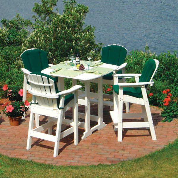 Seaside Casual shellback Adirondack bar chair group