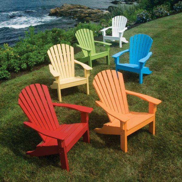 Seaside Casual Adirondack Shellback chair group