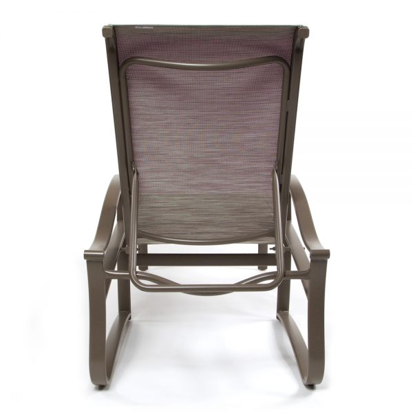 Shoreline sling aluminum chaise lounge back view