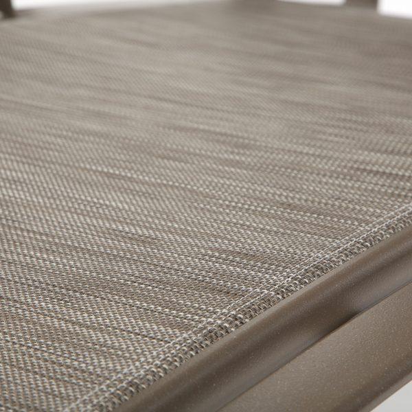 Tropitone Shoreline sling Wintermoor fabric detail