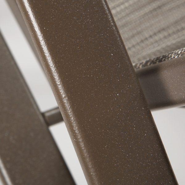 Tropitone aluminum outdoor lounge furniture with a Mocha powder coat finish