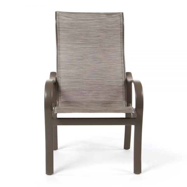 Tropitone Shoreline Sling aluminum dining chair front view
