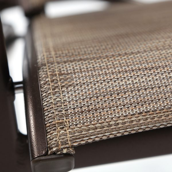Tropitone Shoreline sling Calistoga fabric detail
