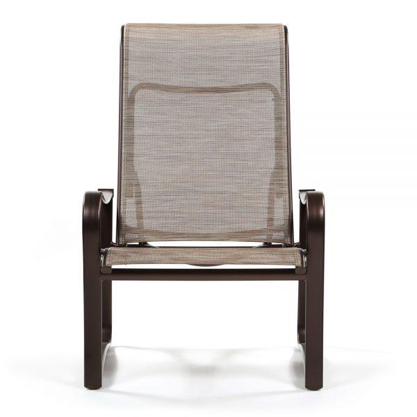 Tropitone aluminum outdoor recliner front view