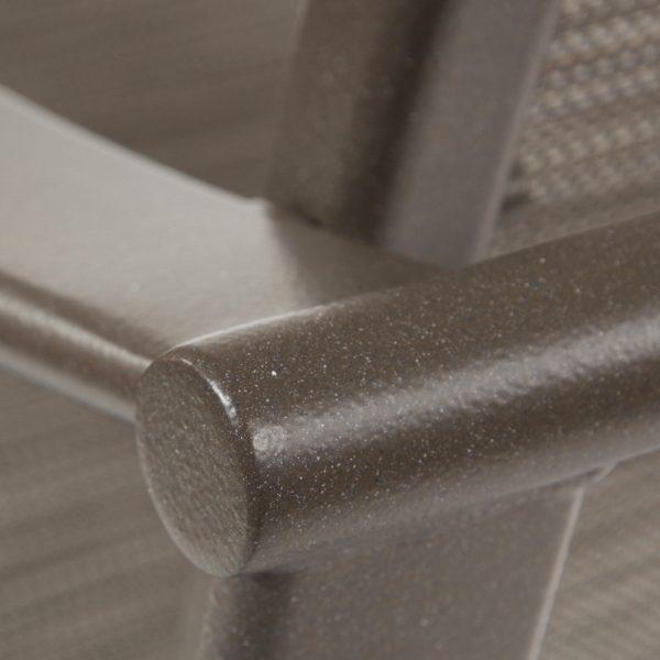 Tropitone aluminum bar furniture with a Mocha powder coat finish