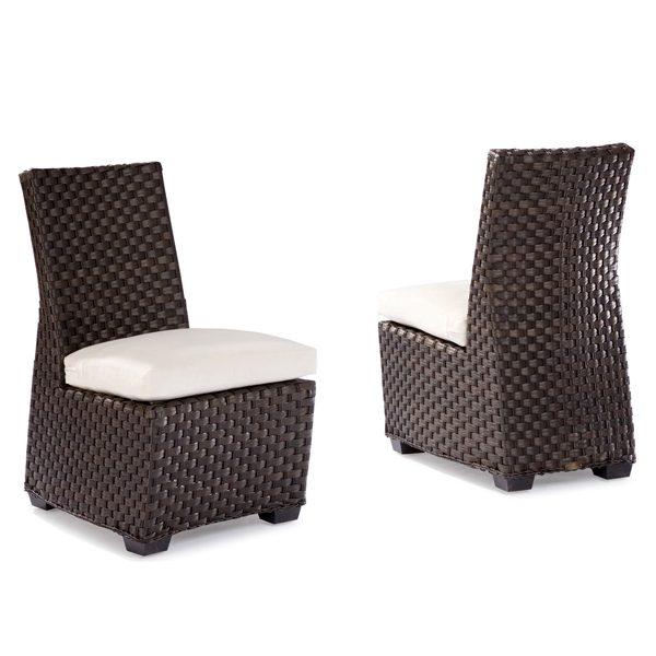 Leeward wicker dining side chairs