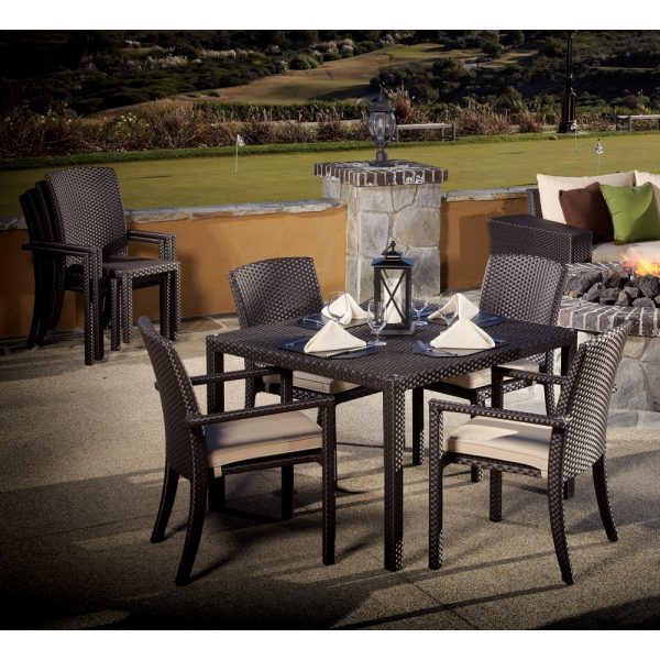 Sunset West Solana wicker dining group