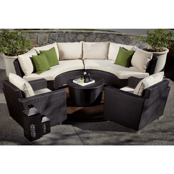 Sunset West Solana wicker sectional
