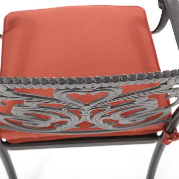 Hanamint cast aluminum dining chair with a Desert Bronze powder coat finish
