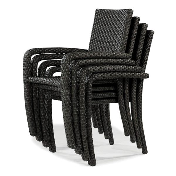 Leeward wicker stacking dining chairs