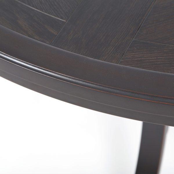 "Sunvilla 54"" round faux wood dining Copperhead powder coat finish"