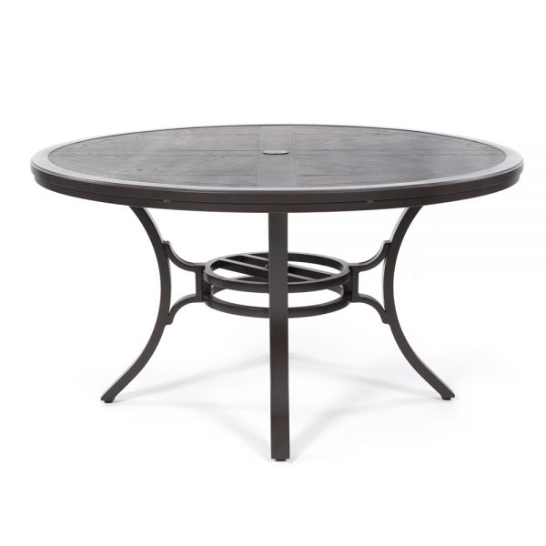 """Sunvilla aluminum 54"""" round faux wood dining table"""