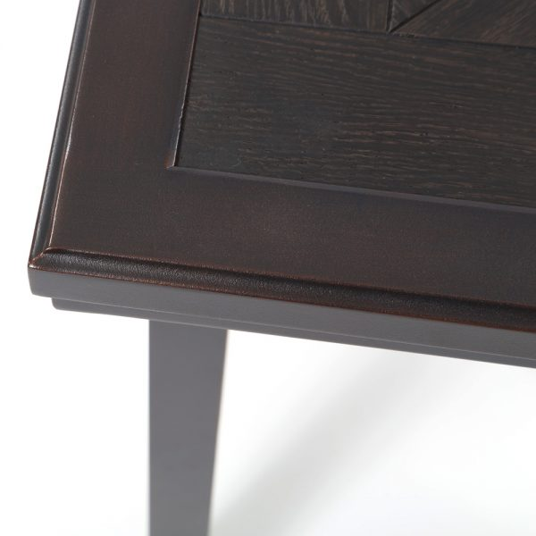 Sunvilla aluminum end table with a Copperhead finish