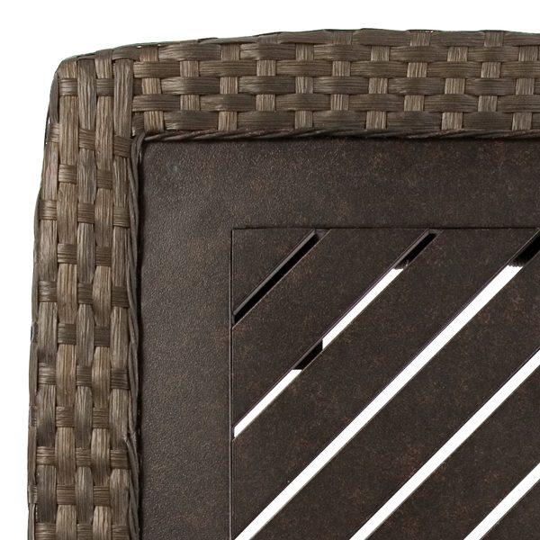 Leeward aluminum table top detail