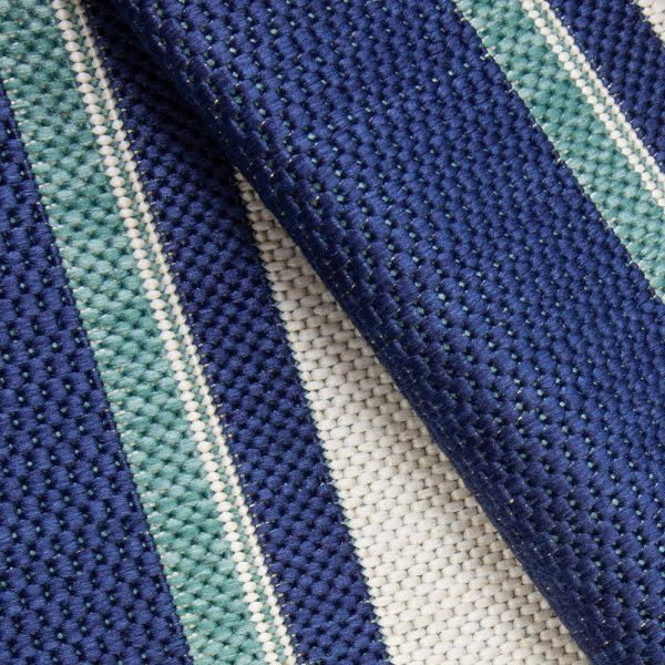 Hampton Bay Blue outdoor area rug from Treasure Garden close up