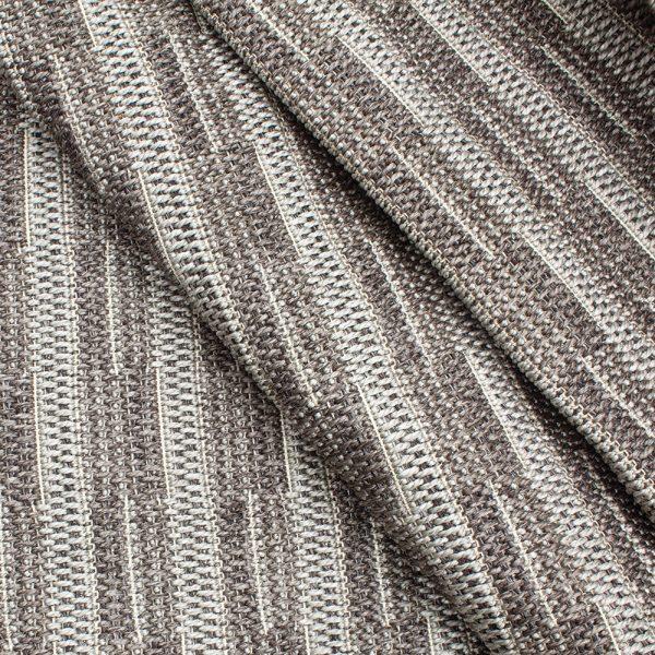 Treasure Garden Ridge Charcoal patio area rug fabric detail