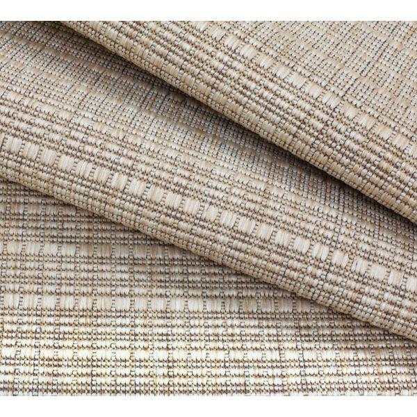 Linen Carmel Macchiato patio rug fabric detail