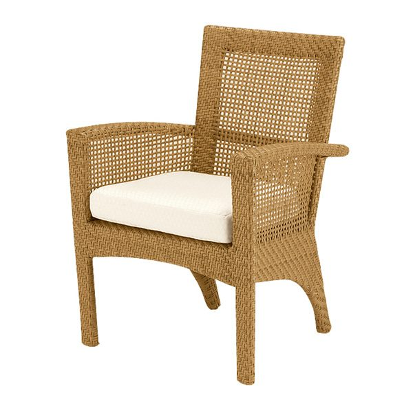 Woodard Trinidad dining arm chair - Natural finish
