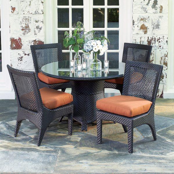 Woodard woven outdoor furniture