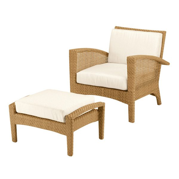 Woodard Trinidad lounge chair with Natural finish (Ottoman sold separately)