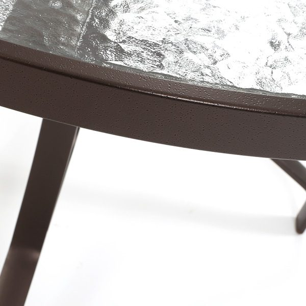 Tropitone obscure glass top detail