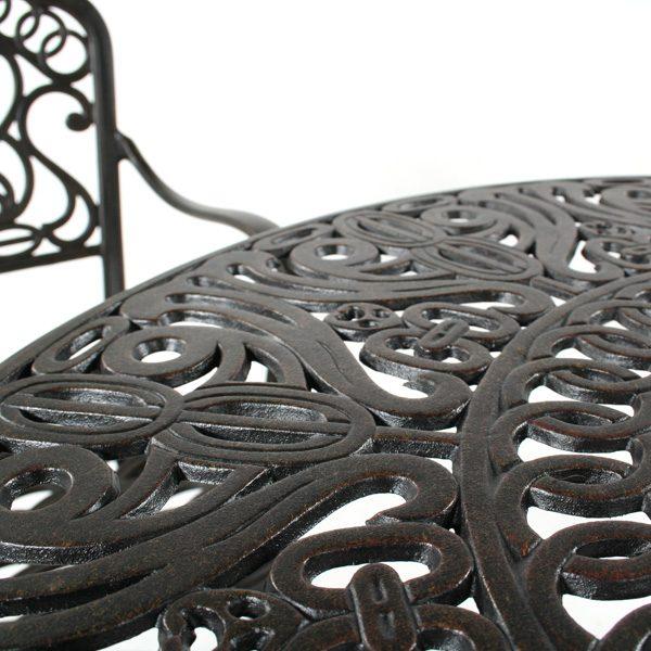 Tuscany Bistro Set Desert Bronze Frame Detail