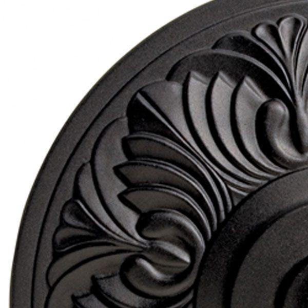 Umbrella base 50lb - Art Deco - black top view close up