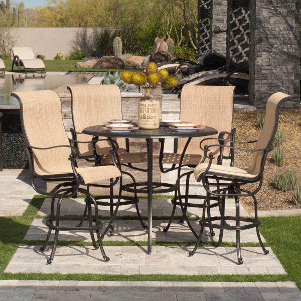 Hanamint Coronado cast aluminum patio table