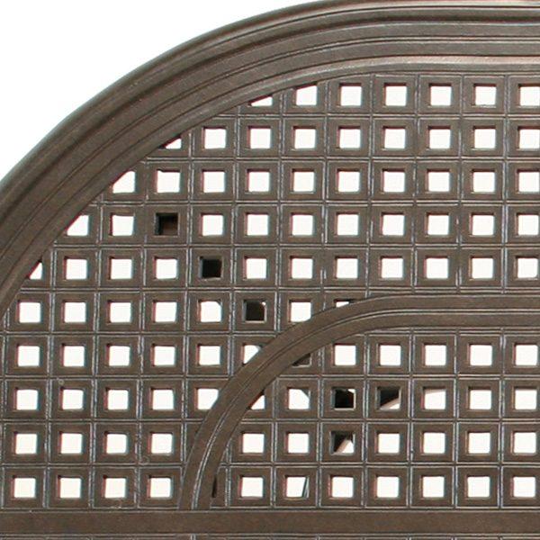 "Coronado 42"" X 84"" oval dining table detail"