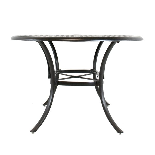 """Coronado 42"""" X 84"""" oval dining table front view"""