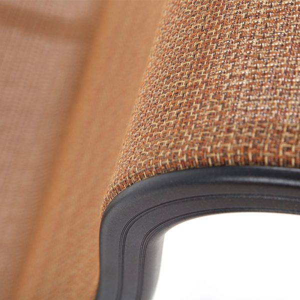 Valbonne Sling dining chair with Elevation Oak sling outdoor fabric