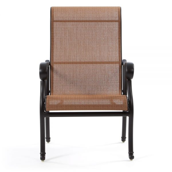 Hanamint Valbonne sling patio chairs front view
