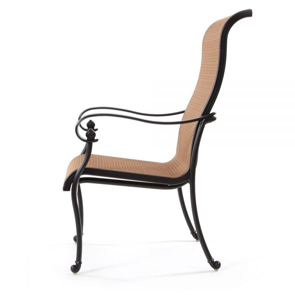 Valbonne sling dining chair side view