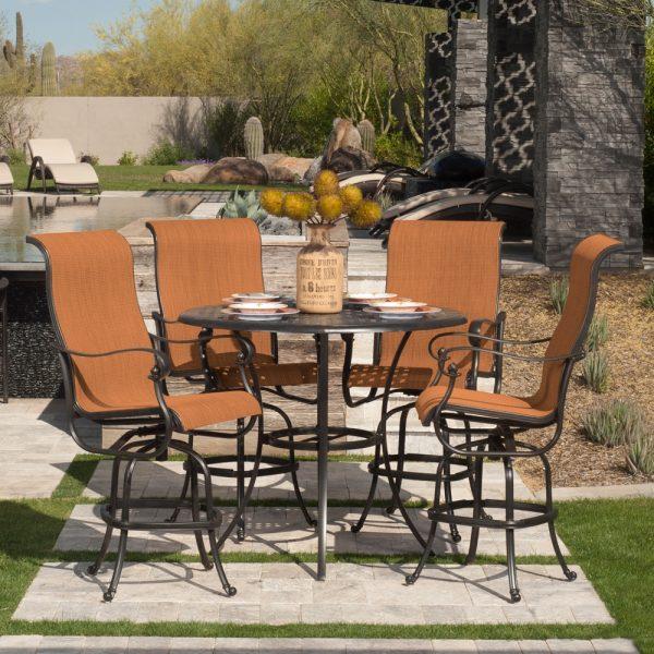 Hanamint Valbonne sling outdoor furniture group