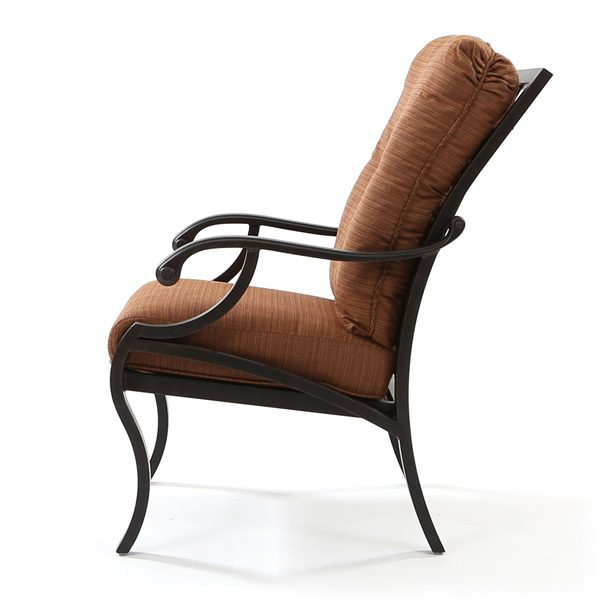 Volare outdoor dining chair side view