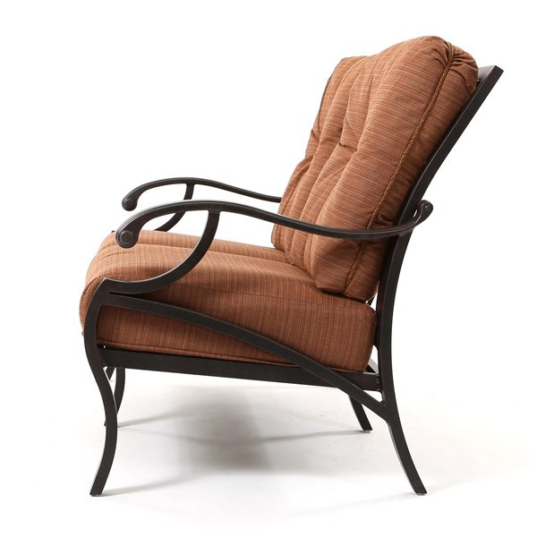 Volare patio loveseat side view