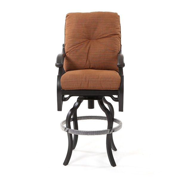 Mallin Volare outdoor swivel barstool front view